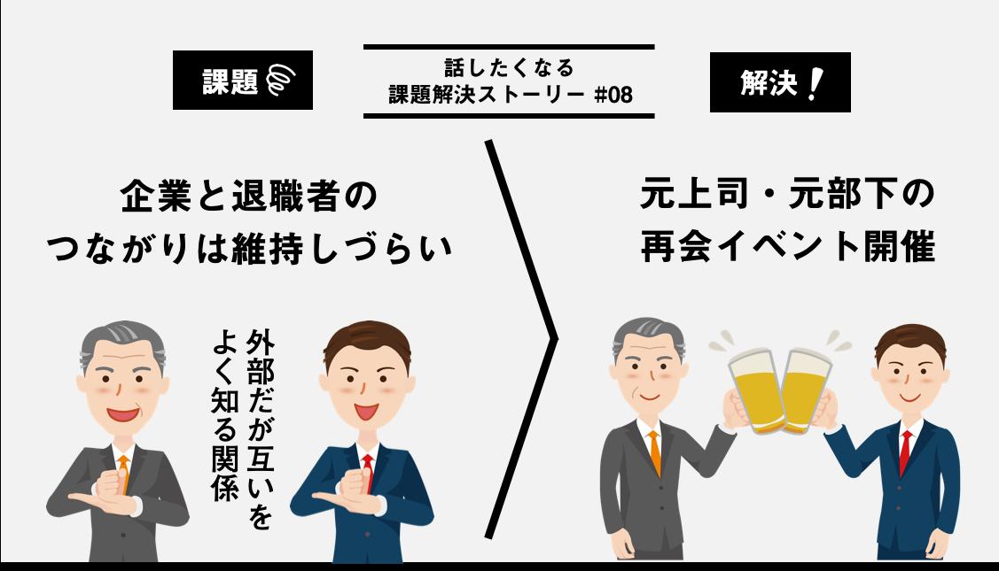 [4コマ]ビール片手に元上司・元部下が語り合うイベントを開催
